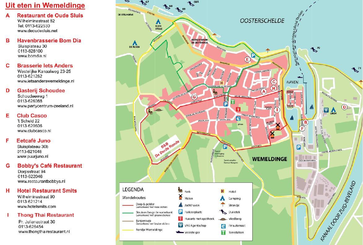 ... van Bed & Breakfast De Derde Ronde, Wemeldinge, Zeeland, Zuid-Beveland: www.derderonde.nl/Links